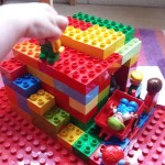 lame man through roof Jesus heals Duplo Bible