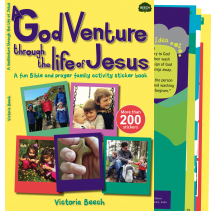 A sticker activity book for families to explore the life of Jesus and pray together at home