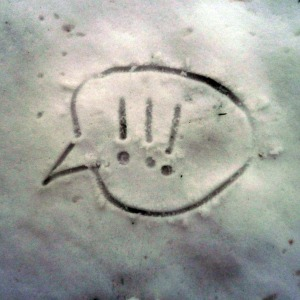 Write or draw something in the snow you're sorry for or that you'd like to leave behind