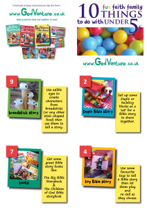 10 fun family faith filled activities for under 5s leaflet April 15