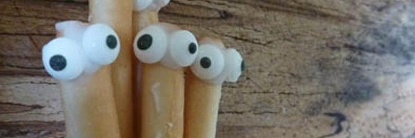 breadsticks with eyes