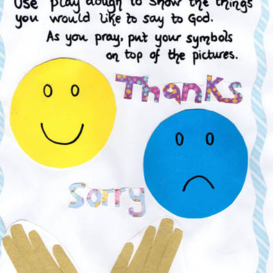 play dough mat prayer square