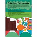 A GodVenture through the life of Jesus Bible fuzzy felt template page
