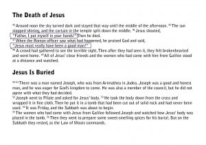 The Easter story from the Bible pages15