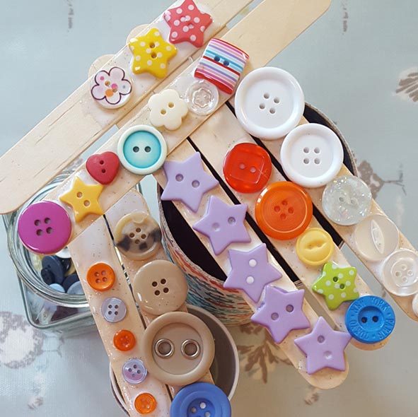 buttons and lollsticks