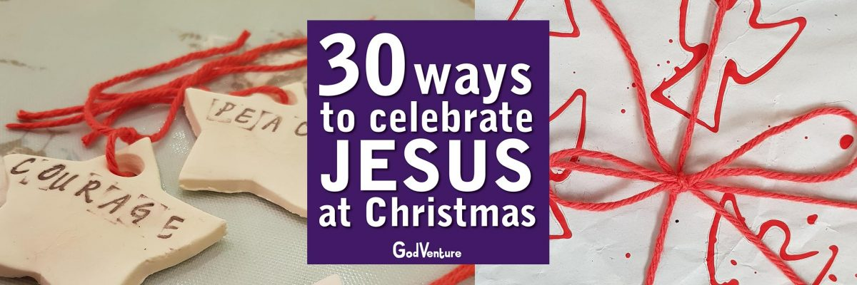 30 Ways to Celebrate JESUS at Christmas slide angel ornament