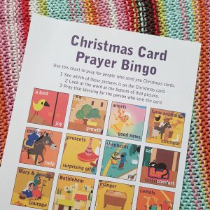 5 Christmas Card Prayer Bingo