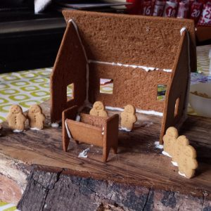 8 ginger bread nativity