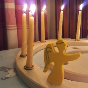 Advent spiral with angel