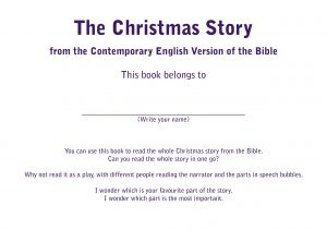 The Christmas story from the Bible page 1