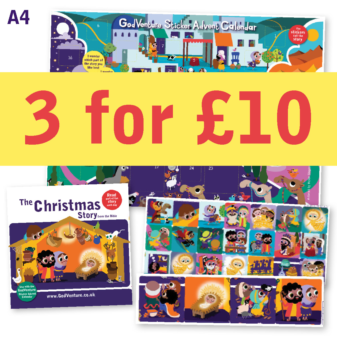 Advent Calendar Sticker Bible offer BOGOF