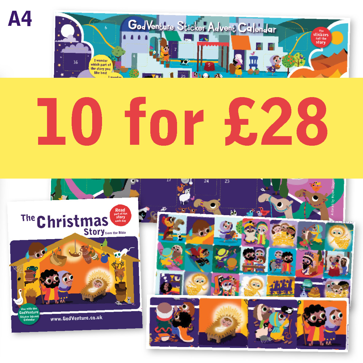Advent Calendar Sticker offer BOGOF