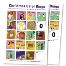 Christmas Carol Bingo Game fun family