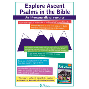 Devotional for individuals or families or small groups to explore the psalms of ascent
