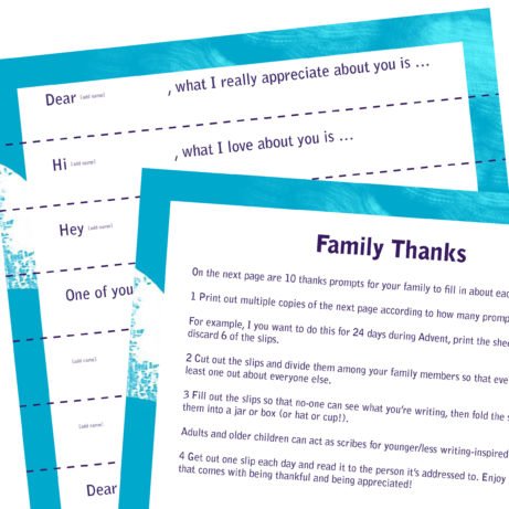 Family thanks prompts